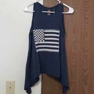 Small Rue21 American Flag Tank with Long Sides